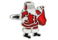 Santa Claus Christmas Cufflinks Wedding Fancy Gift Box Free Ship USA