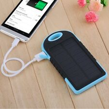 New 20000MAH External Solar Power Bank Battery Charger Dual USB For iPhone 6S 5S