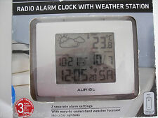 AURIOL RADIO ALARM CLOCK WITH WEATHER STATION..........RADIO_TRADER_IRELAND.