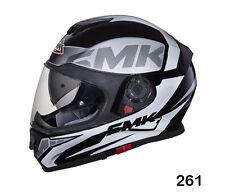 SMK Helmets - Twister - Logo Black Grey White - Full Face Dual Visor Bike Helmet