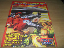 Street Fighter II Collector's Item 12 Posters In Book Rare Mean Machines SEGA