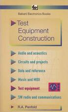 Test Equipment Construction - R A Penfold - Acceptable - Paperback