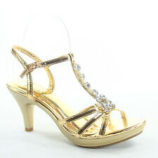 NEW Women's Party Dress Sexy T-Strap Strappy Open Toe High Heel Shoes Size 5 -10