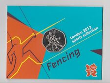 FENCING - Rare 50p Olympic 2012 Fifty Pence Uncirculated Coin in Folder
