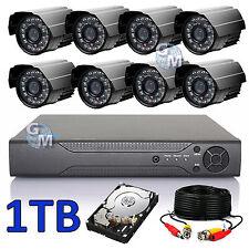 KIT VIDEOSORVEGLIANZA DVR 8 CANALI CH COMPLETO TELECAMERE IR HD 1 TB REMOTO