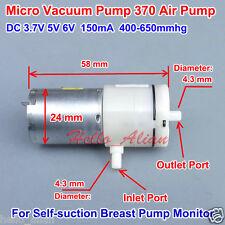 DC 3.7V 5V 6V Micro 370 Air Pump Mini Vacuum Pump Micro-pressure Breast Pump DIY