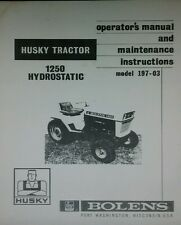 Bolens 1250 Lawn  Garden Tractor Owner & Parts Manuals 32p (2 BOOKS) Large Frame