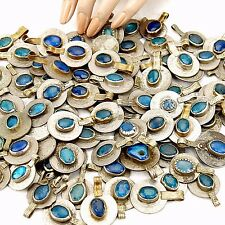 20 real Jeweled COINS Tribal Belly Dance Kuchi Tribe - BLUE Color