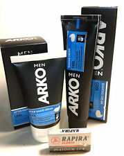 Set 2 PCs ARKO COOL Shaving Cream  & Aftershave+5 BLADES Rapira Platinum