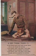 POSTCARD  BAMFORTH SONG CARDS  O Dry Those Tears  (1)