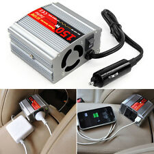 150w Watt USB Car Power Inverter Dc 12v to Ac 220v Car and Van Accessories