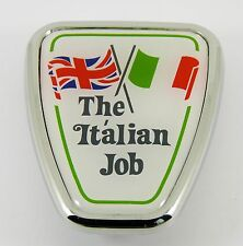 "Classic Mini ""THE ITALIAN JOB"" Bonnet Shield Badge, BMC / Austin part DAB101130"
