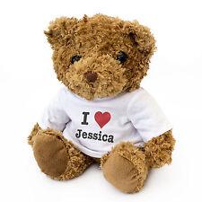 NEUF - I LOVE JESSICA - Ours En Peluche Mignon à câliner Cadeau Anniversaire