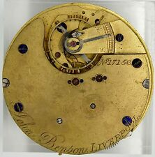 JOHN BENSON LIVERPOOL ENGLISH LEVER POCKET WATCH CHRONOGRAPH MOVEMENT S221