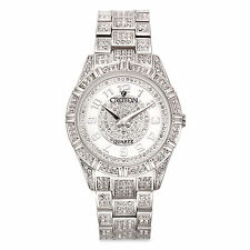Croton Men's CN307545RHMP Balliamo Crystal Accent Silver Tone Watch