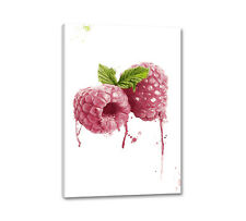 Toile framboise 90x60cm Digital aquarelle nature raspberry la fresque Caro type