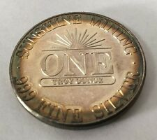 1986 Sunshine Minting Mint Rainbow Toning 1 Troy Oz .999 Fine Silver Collectible