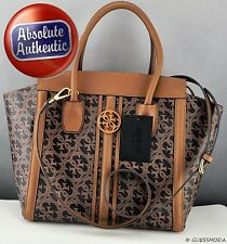 BNWT GUESS Premium Handbag Ladies Heritage Cognag SATCHEL Beautiful Bag New