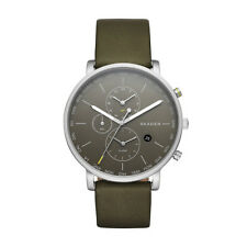 Skagen Men's Hagen World Time and Alarm Leather Watch SKW6298