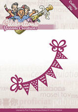 Stanzschablone - Partygirlande  -  Yvonne Creations - Celebrations  (YCD10049)