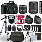 Nikon D5300 SLR Camera 4 Lens Kit 18-55 + 55-200mm VRII + 64GB Accessory Bundle