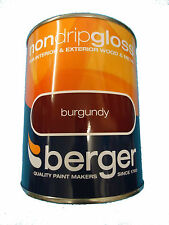 Berger Non Drip Gloss For Interior/Exterior - Wood/Metal Burgundy Paint