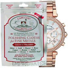 NEW CAPE COD FINE METAL POLISHING CLOTH FOR MICHAEL WATCH - PACK OF 2