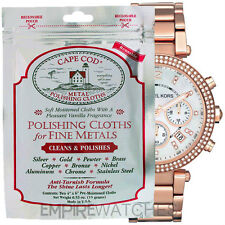 NEW CAPE COD FINE METAL POLISHING CLOTH FOR MICHAEL KORS WATCH - PACK OF 2