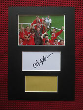 MANCHESTER UNITED SIR ALEX FERGUSON PERSONALLY SIGNED CARD A4 MOUNT DISPLAY- COA