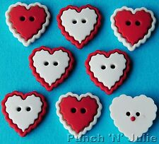 HEART OF MINE Love Valentine's Day Wedding Christmas Dress It Up Craft Buttons