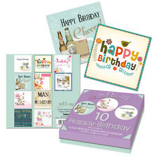 10 x MIXED/ASSORTED ADULTS LADIES AND MENS BIRTHDAY CARDS WITH ENVELOPES