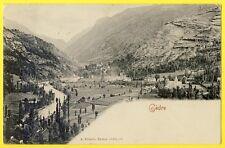 cpa 65 - GÈDRE (Htes Pyrénées) Le VILLAGE et le GAVE de GAVARNIE Edit. VILLATTE