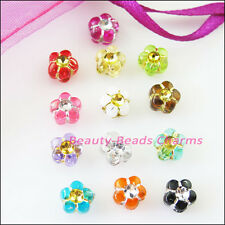 100Pcs Mixed Acrylic Plastic Tiny Star Flower Spacer Beads Charms 7mm