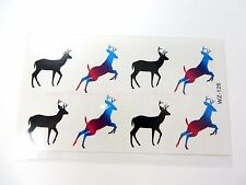 US SELLER-sexy body hand Magnificent Christmas Deer temporary tattoo stickers