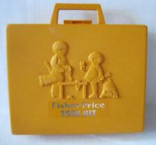 Vintage 1977 Fisher Price Toys Orange Tool Box Kit Plastic Case ONLY-Empty-1970s