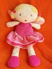 """Marks and Spencer M&S Rag Doll Fairy Soft Toy Baby Comforter 12.5"""" Sound RARE!"""