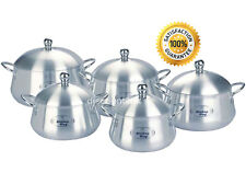 10PC Belly Shape Saucepan Set Aluminium Casserole Boiling Pot by Kitchen King