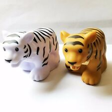 2 Little People Fisher-Price Zoo Talkers White Tiger & Brown Tiger (no sound)