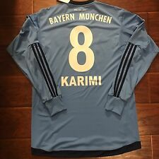 New Bayern Munich Away Jersey  #8 Ali Karimi Iran Size Large Long Sleeve Rare