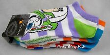 New Disney Pixar Toy Story Buzz Woody Potato Slinky Rex 5 Pr Pair No Show Socks