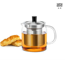 Samadoyo S-042 Stainless Steel Infuser Strainer Glass Teapot Tea Pot 500ml Bodum