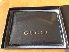Gucci GG Monogram Mens Brown Leather Wallet 292534