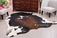 Superior quality Dark Chocolate  Cowhide Rug size approx 5X7---DC2
