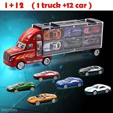 Kids Toy Auto Car Carrying Case+12 Racing Cars Simulation Model Gift For Boys