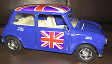 Modelo De Juguete Antiguo Forma Azul Mini Cooper 550 Auto Union Jack 11 cm Welly