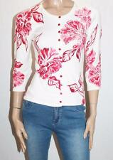 Rockmans Brand Ivory Pink Floral 3/4 Sleeve Cardigan Size XS BNWT #SS65