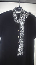 IMMACULATE House of Fraser The Collection Ladies Black &White designer top Sz 12