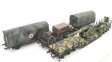 Märklin Spur 1 Militärzug mit Geschütz Begleitwagen Planwagen Fahrzeuge für Kiss