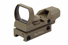 Tan Shotgun 4 Reticle Holographic Red & Green Dot Reflex Scope Sight 20mm Rail