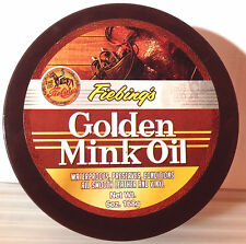 Fiebing's Golden Mink Oil Leather/Vinyl Preserver Conditioner Waterproof 6 oz